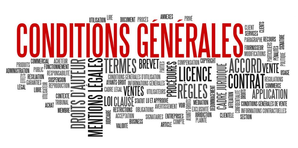 CONDITIONS GENERALES D'UTILISATION