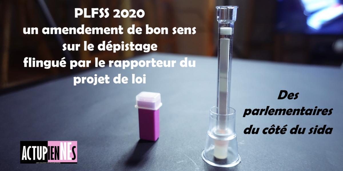 PLFSS 2020 : un amendement de bon sens sur le dépistage flingué par le rapporteur du projet de loi. Des parlementaires du côté du sida